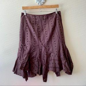 Ruth brown boho skirt